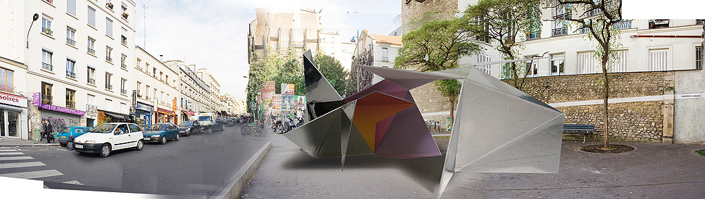 The mockup of the model shows how the urban object is embedded in the environment.
